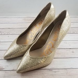 Sam Edelman Orella Metallic Gold Pumps